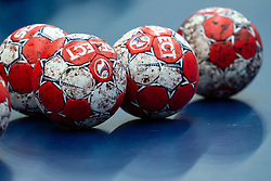 Balls during the Women's EHF Euro 2020 match between Serbia and Hungary at Sydbank Arena on december 06, 2020 in Kolding, Denmark (Photo by RHF Agency/Ronald Hoogendoorn)