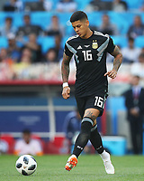 MOSCOW, RUSSIA - JUNE 16: Marcos Rojo of Argentina controls the ball during the 2018 FIFA World Cup Russia group D match between Argentina and Iceland at Spartak Stadium on June 16, 2018 in Moscow, Russia. (Photo by Ian MacNicol/Getty Images)