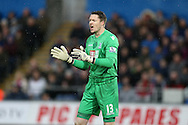 Crystal Palace goalkeeper Wayne Hennessey looks on. Barclays Premier league match, Swansea city v Crystal Palace at the Liberty Stadium in Swansea, South Wales on Saturday 6th February 2016.<br /> pic by Andrew Orchard, Andrew Orchard sports photography.