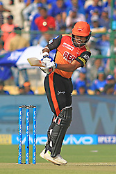 April 29, 2018 - Jaipur, Rajasthan, India - Sunrisers  Hyderabad batsman Shikhar Dhawan plays a shot during the IPL T20 match against Rajasthan Royals at Sawai Mansingh Stadium in Jaipur on 29th April,2018. (Credit Image: © Vishal Bhatnagar/NurPhoto via ZUMA Press)