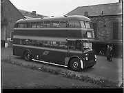 23/10/1958<br /> 10/23/1958<br /> 23 October 1958<br /> New Leyland double deck buses for CIE at Broadstone Depot, Dublin.