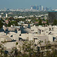 Los Angeles, California, viewed from the Intercontinental Hotel near Westwood.