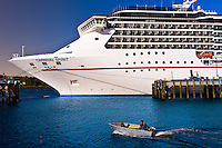 Carnival Spririt cruise ship docked in Ketchikan, Southeast Alaska USA