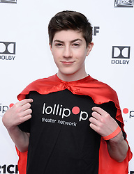 2nd Annual Lollipop Superhero Walk Benefiting Lollipop Theater Network. 29 Apr 2018 Pictured: Mason Cook. Photo credit: MEGA TheMegaAgency.com +1 888 505 6342