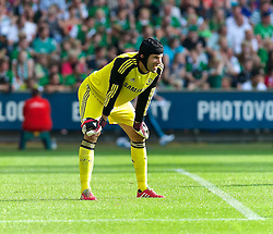 03.08.2014, Weserstadion, Bremen, GER, Testspiel, SV Werder Bremen vs FC Chelsea, im Bild Petr Cech (Chelsea FC #1) // during a friedly match between SV Werder Bremen and Chelsea FC at the Weserstadion in Bremen, Germany on 2014/08/03. EXPA Pictures © 2014, PhotoCredit: EXPA/ Andreas Gumz<br /> <br /> *****ATTENTION - OUT of GER*****