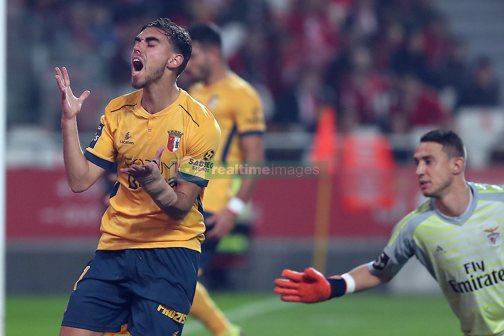 December 23, 2018 - Lisbon, Portugal - Braga's forward Ricardo Horta reacts during the Portuguese League football match SL Benfica vs SC Braga at the Luz stadium in Lisbon on December 23, 2018. (Credit Image: © Pedro Fiuza/NurPhoto via ZUMA Press)
