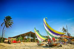 Jangadas na Praia de Cumbuco localizada no município de Caucaia, a 30 km da capital, Fortaleza no estado do Ceará. FOTO: Jefferson Bernardes/ Agência Preview
