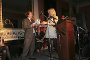 ALEXANDER WAUGH AND COURTNEY LOVE, Literary Review's Bad Sex In Fiction Prize.  In & Out Club (The Naval & Military Club), 4 St James's Square, London, SW1, 29 November 2006. <br />