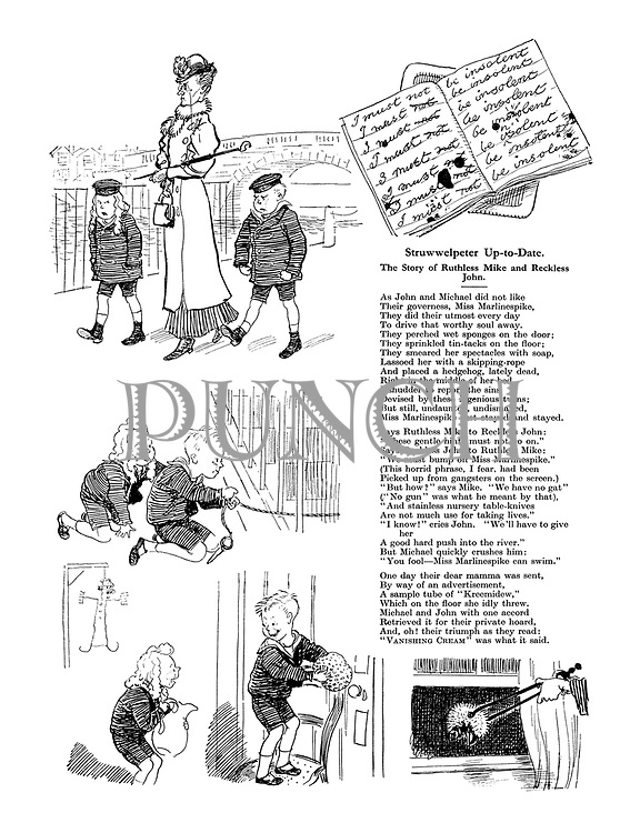 (Struwwelpeter Up-to-Date. The Story of Ruthless Mike and Reckless John.)