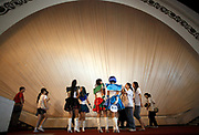 Youngsters wearing cartoon costumes usher in the first week of summer vacation by attending an Anime festival and enjoying a rare opportunity of carefree fun in Shanghai, China on 03 July 2009.  Chinese youth face one of the toughest school system and most unrealistic parental expectation level in the world, a recent survey showed that three-quarters of parents expect their children to achieve scores above 90%, and almost one in ten expects their children to achieve perfect scores in all subjects.