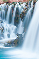 New Navajo Falls flow through Havasu Canyon on the Havasupai Indian Reservation, Arizona.