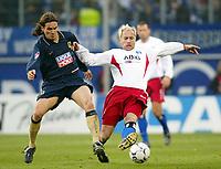 Fotball<br /> Bundesliga Tyskland<br /> 08.11.2003<br /> Foto: Digitalsport<br /> Norway Only<br /> <br /> v.l. Remo Meyer - Sergej Barbarez HSV<br /> Bundesliga Hamburger SV - TSV München 1860
