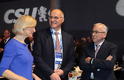 19.01.2019, Kleine Olympiahalle, Muenchen, GER, CSU Parteitag in München, im Bild von links: Dr. Angelika Niebler, Dr. Kurt Gribel und Edmund Stoiber // during the CSU party congress at the Kleine Olympiahalle in Muenchen, Germany on 2019/01/19. EXPA Pictures © 2019, PhotoCredit: EXPA/ SM<br /> <br /> *****ATTENTION - OUT of GER*****