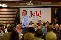 Jeb Bush at Laconia VFW Hall.  Karen Bobotas for the Laconia Daily Sun