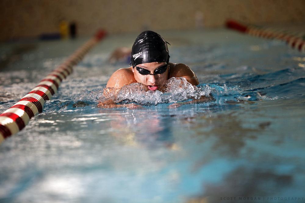 SCOTT MORGAN   ROCKFORD REGISTER STAR.Auburn High School's Kate Paige swims Wednesday, Oct. 14, 2009, during practice at Auburn in Rockford.