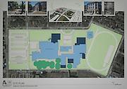 Bay IBI architects preliminary plan on display during a 2012 Bond community meeting at Davis High School, July 15, 2014.