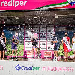 19-09-2020: Wielrennen: Giro Rosa: Motta Montecorvino<br /> 1th Anna VAN DER BREGGEN <br /> 2nd Kasia NIEWIADOMA  ( POL )<br /> 3th Elisa LONGO BORGHINI Elisa ( ITA )