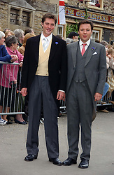 Left to right, thr groom HARRY LOPES and his best man at the wedding of Laura parper Bowles to Harry Lopes held at Lacock, Wiltshire on 6th May 2006.<br /><br />NON EXCLUSIVE - WORLD RIGHTS
