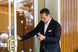 16.06.2016, Parlament, Wien, AUT, Parlament, Nationalratssitzung, Sitzung des Nationalrates mit Wahl der neuen Rechnungshofpräsidentin, im Bild Klubobmann FPÖ Heinz-Christian Strache // Leader of the parliamentary group FPOe Heinz Christian Strache during meeting of the National Council of austria with election of the new president of the austrian court of audit at austrian parliament in Vienna, Austria on 2016/06/16, EXPA Pictures © 2016, PhotoCredit: EXPA/ Michael Gruber