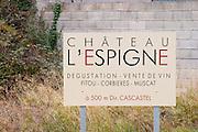 Chateau l'Espigne, Fitou, Corbieres, Muscat. Fitou. Les Corbieres. Languedoc. France. Europe.