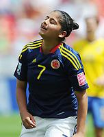 Fotball<br /> VM kvinner 2011 Tyskland<br /> 28.06.2011<br /> Sverige v Colombia<br /> Foto: Witters/Digitalsport<br /> NORWAY ONLY<br /> <br /> Catalina Usme (Kolumbien)<br /> Frauenfussball WM 2011 in Deutschland, Kolumbien - Schweden 0:1