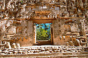 MEXICO, MAYAN, YUCATAN Chicanna; 'Chac' Palace doorway