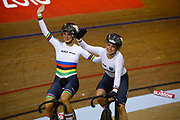 Women Team Sprint, WELTE Miriam, HINZE Emma, Germany, Bronze medal, during the UEC Track Cycling European Championships Glasgow 2018, at Sir Chris Hoy Velodrome, in Glasgow, Great Britain, Day 2, on August 3, 2018 - Photo Luca Bettini / BettiniPhoto / ProSportsImages / DPPI - Belgium out, Spain out, Italy out, Netherlands out -