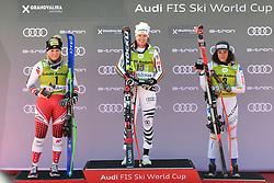 March 14, 2019 - ANDORRA - Podium Ladies Super Giant of Audi FIS Ski World Cup Finals 18/19 on March 14, 2019 in Grandvalira Soldeu/El Tarter, Andorra. (Credit Image: © AFP7 via ZUMA Wire)