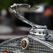 The emblem on a 1931 Cadillac 355A at the Greenwich Concours d'Elegance Festival of Speed and Style featuring great classic vintage cars. Roger Sherman Baldwin Park, Greenwich, Connecticut, USA.  2nd June 2012. Photo Tim Clayton