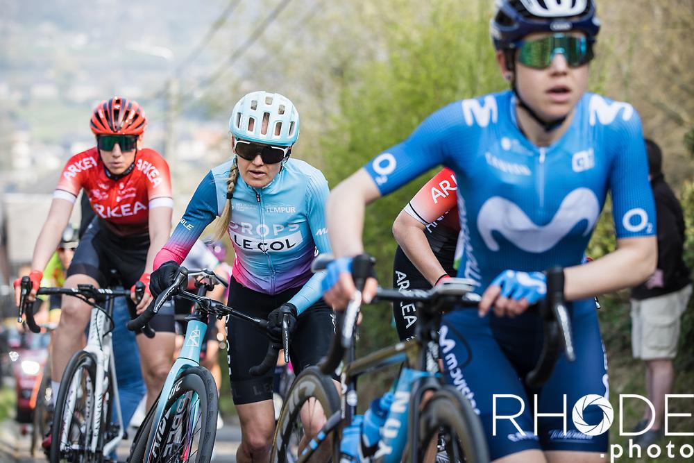 Joscelin Lowden (GBR/Drops LeCol)<br /> <br /> 24th la Flèche Wallonne Féminin 2021 (1.UWT)<br /> 1 Day Race: Huy – Huy 130,5km<br /> <br /> ©RhodePhoto