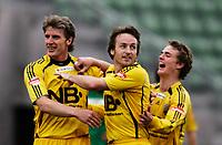 FOTBALL 12. mai 2006, Addecoserien 1. divisjon herre, Manglerud Star v Bod¯/Glimt, fra venstre: Cato Hansen, Stig Johansen og Ruben Imingen, Foto Kurt Pedersen / DIGITALSPORT