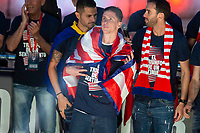 Atletico de Madrid Fernando Torres celebrating Europa League Championship at Neptune Fountain in Madrid, Spain. May 18, 2018. (ALTERPHOTOS/Borja B.Hojas)