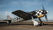 FW 190 replica  of the Erickson Aircraft Collection, starting up.