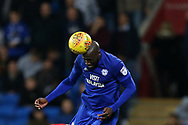Sol Bamba of Cardiff city in action. EFL Skybet championship match, Cardiff city v Ipswich Town at the Cardiff city stadium in Cardiff, South Wales on Tuesday 31st October 2017.<br /> pic by Andrew Orchard, Andrew Orchard sports photography.