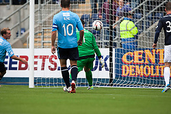 Falkirk's Jay Fulton (not in pic) second goal<br /> Falkirk 3 v 1 Dundee, 21/9/2013.<br /> ©Michael Schofield.