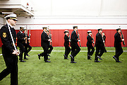 The Navy ROTC is seen during a drill competition at the McClain Center in Madison, Wisconsin on December 8, 2011. .