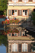 restaurant terrace little venice 'petite venise' colmar alsace france