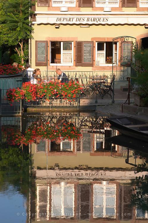 restaurant terrace little venice 'petite venise' colmar alsace france