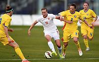 Fotball , 22. januar 2016 , Privaktamp kvinner,<br /> Norge - Romania<br /> Norway - Rumania<br /> Kristine Minde 19 , Norge<br /> ioana Bortan , Romannia