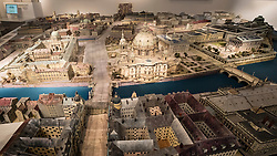 Model of Berlin in 1900 on display at Humboldt Box exhibition centre in Mitte Berlin Germany