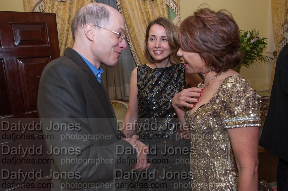 ALAIN DE BOTTON; CHARLOTTE DE BOTTON; KATHY LETTE, Tatler magazine Jubilee party with Thomas Pink. The Ritz, Piccadilly. London. 2 May 2012