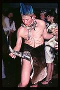 Crispin Vilson at Piers Gaveston Ball. Oxford Town Hall. 1981 approx© Copyright Photograph by Dafydd Jones 66 Stockwell Park Rd. London SW9 0DA Tel 020 7733 0108 www.dafjones.com