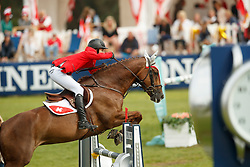 Müller Gilles, SUI, Cara XV<br /> European Championship Children, Juniors, Young Riders - Fontainebleau 1028<br /> © Hippo Foto - Dirk Caremans<br /> Müller Gilles, SUI, Cara XV