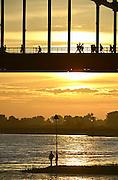 Nederland, Nijmegen, 15-7-2014 Start van de 98e 4 daagse. 43000 deelnemers. Op de Wedren worden de polsbandjes gescand waarna via het centrum en de waalbrug gelopen wordt naar Bemmel en Elst in de Betuwe en wordt wel de dag van Elst genoemd. De vierdaagse is het grootste wandelevenement ter wereld. Foto: Flip Franssen/Hollandse Hoogte The International Four Day Marches Nijmegen, or Vierdaagse, is the largest marching event in the world. It is organized every year in Nijmegen mid-July as a means of promoting walking, sport and exercise. Participants walk 30, 40 or 50 kilometers daily, and on completion, receive a royally approved medal, Vierdaagsekruisje. The participants are mostly civilians, but there are also a few thousand military participants. The maximum number of 45,000 registrations has been reached. More than a hundred countries have been represented in the Marches over the years. FOTO: FLIP FRANSSEN/ HOLLANDSE HOOGTE