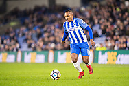 Brighton and Hove Albion (19) José Izquierdo during the The FA Cup 3rd round match between Brighton and Hove Albion and Crystal Palace at the American Express Community Stadium, Brighton and Hove, England on 8 January 2018. Photo by Sebastian Frej.