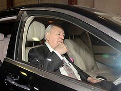 01 June  2015. New Orleans, Louisiana. <br /> Tom Benson, billionaire owner of the NFL New Orleans Saints, the NBA New Orleans Pelicans, various Mercedes dealerships, banks, property assets and a slew of business interests leaves New Orleans Civil District Court where he is attending a hearing to determine his level of competency to manage his business empire. Benson changed his succession plans and  decided to leave the bulk of his estate to third wife Gayle, sparking a controversial fight over control of the Benson business empire.<br /> Photo©; Charlie Varley/varleypix.com
