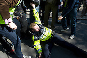 Gardai under pressure at the Labour conference at NUIG. Photo:Andrew Downes.