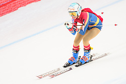 January 19, 2018 - Cortina D'Ampezzo, Dolimites, Italy - Julia Mancuso of United States of America competes  during the Downhill race at the Cortina d'Ampezzo FIS World Cup her last race before ratireing from skiing in Cortina d'Ampezzo. (Credit Image: © Rok Rakun/Pacific Press via ZUMA Wire)