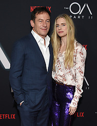 """Netflix's """"The OA Part II"""" premiere held at LACMA. 19 Mar 2019 Pictured: Jason Isaacs and Brit Marling. Photo credit: O'Connor/AFF-USA.com / MEGA TheMegaAgency.com +1 888 505 6342"""