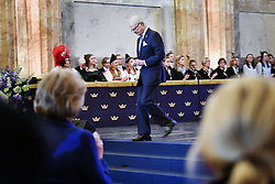 February 5, 2018 - Stockholm, Sweden - King Carl XVI Gustaf, ..Attendance at the seminar 200 Years of the Bernadotte Dynasty, Hall of State, Royal Palace of Stockholm, Sweden 2018-02-05..(c) MATTSSON STEFAN  / Aftonbladet / IBL BildbyrÃ¥....* * * EXPRESSEN OUT * * *....AFTONBLADET / 4496....Närvaro vid seminarium ''Bernadotte 200 Ã¥r'', Riksalen, Kungliga slottet (Credit Image: © Mattsson Stefan/Aftonbladet/IBL via ZUMA Wire)